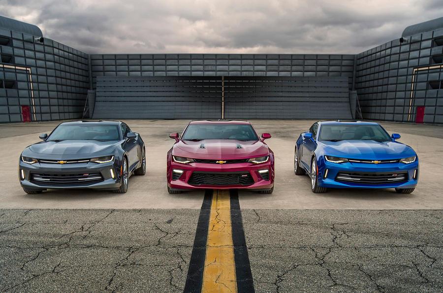 Three Chevrolet Camaros