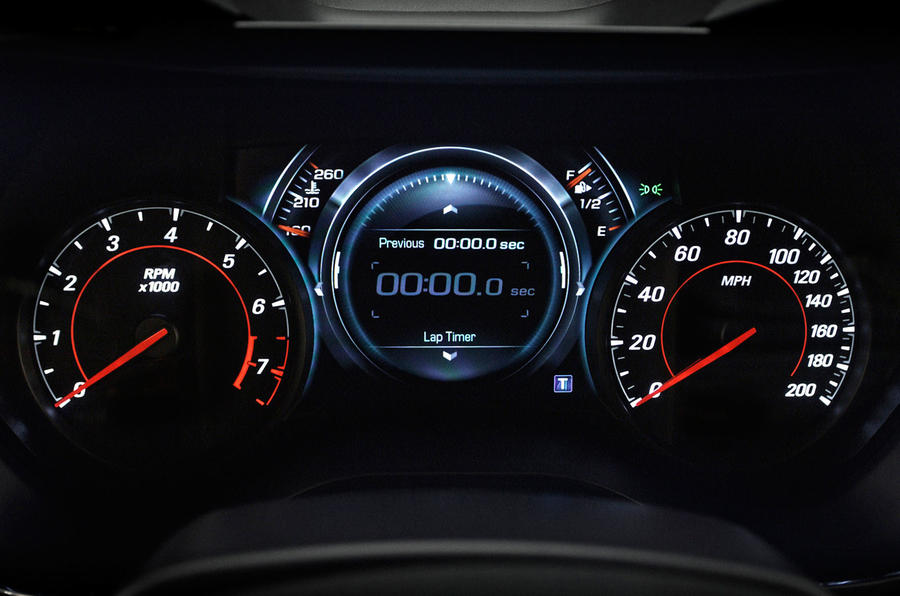 Chevrolet Camaro instrument cluster