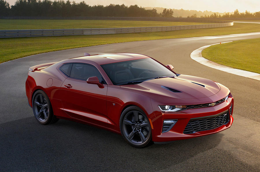 Red Chevrolet Camaro