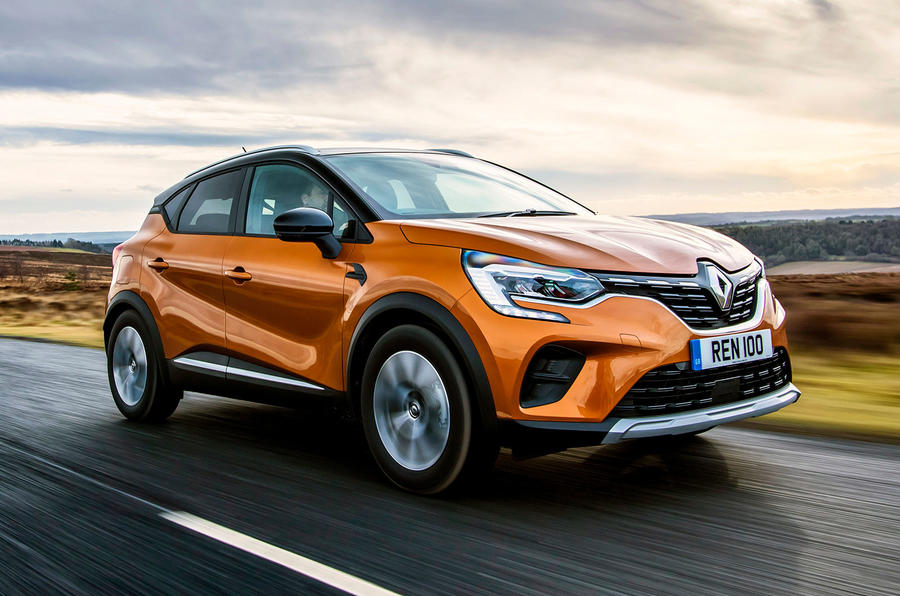 Renault Captur 2020 UK first drive review - tracking front