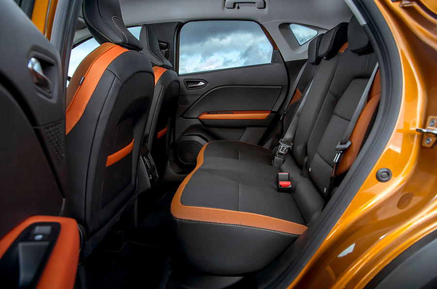 Renault Captur 2020 UK first drive review - rear seats