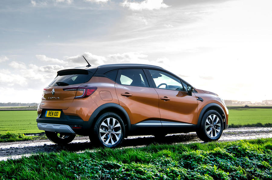 Renault Captur 2020 UK first drive review - static rear