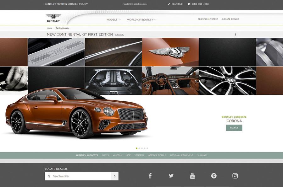 Online car configurator