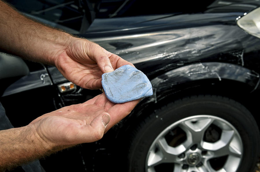 how to clean off paint from car