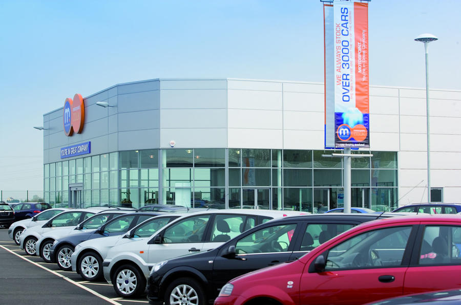 New cars on a dealership forecourt