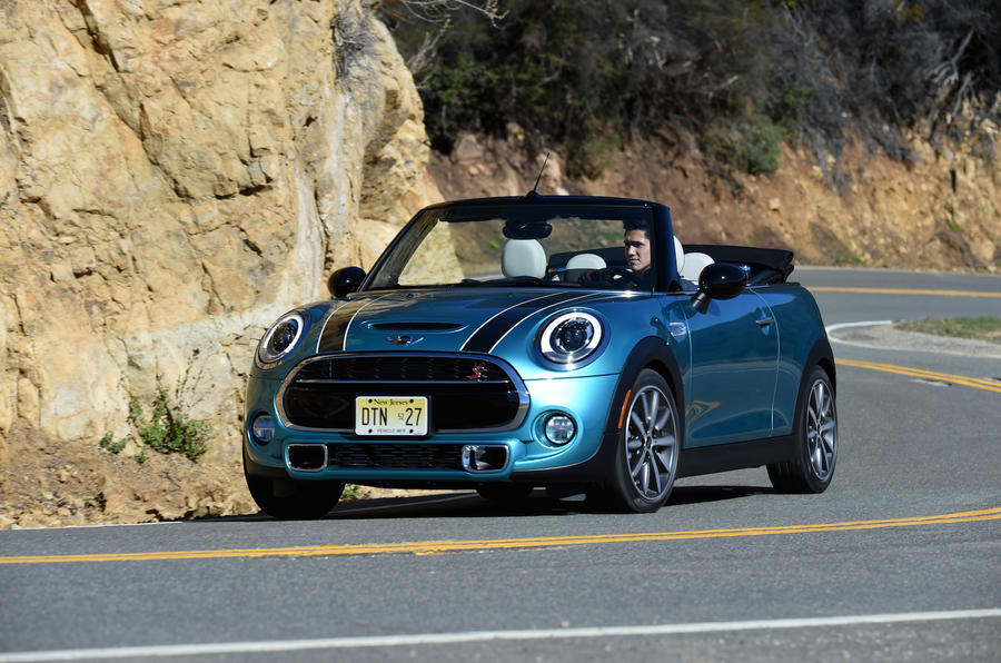 Mini Cooper S Convertible cornering