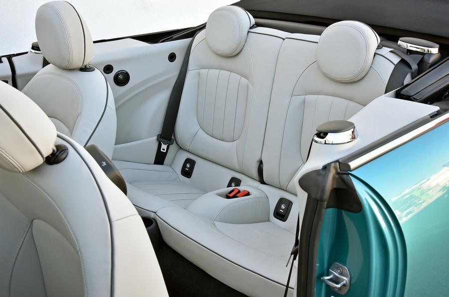 Mini Cooper S Convertible rear seats