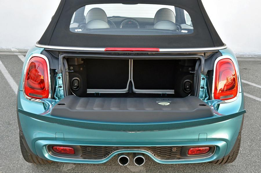 Mini Cooper S Convertible boot space