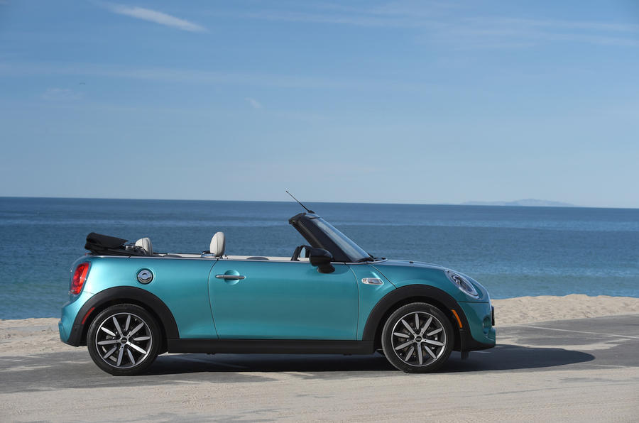 Mini Cooper S Convertible roof down