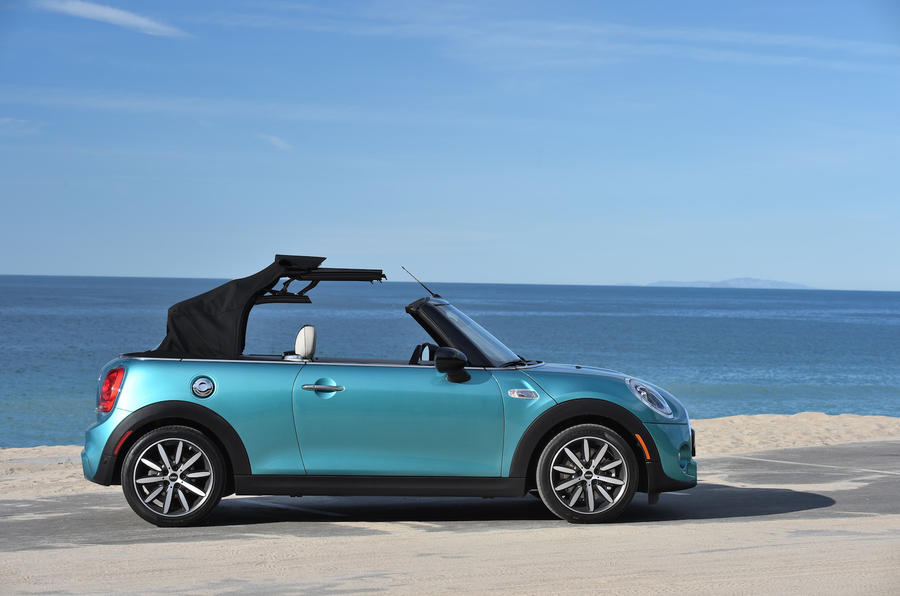 Mini Cooper S Convertible folding roof