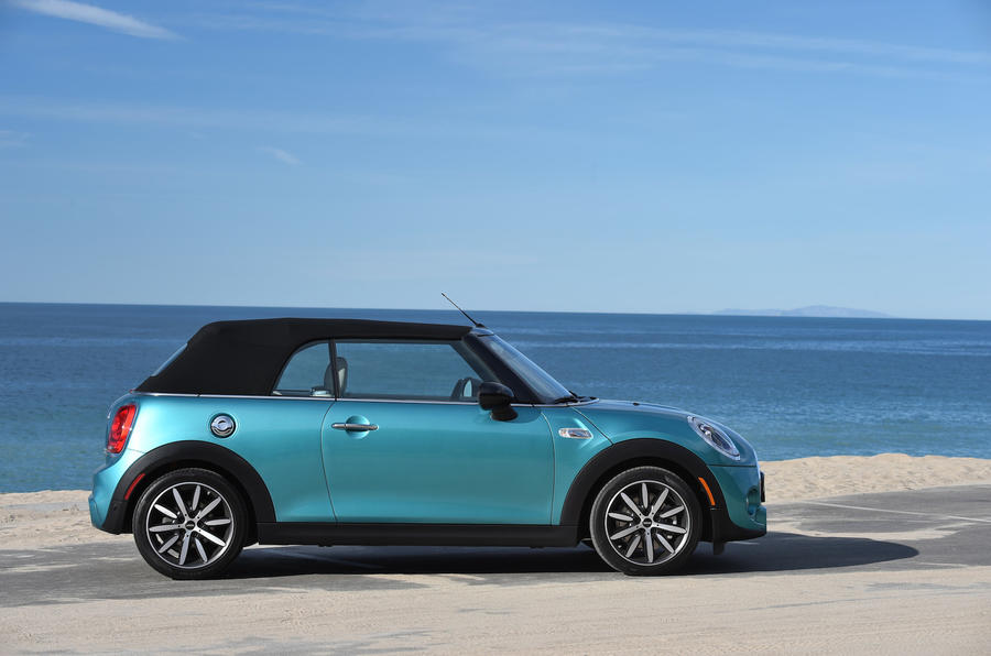 Mini Cooper S Convertible roof up