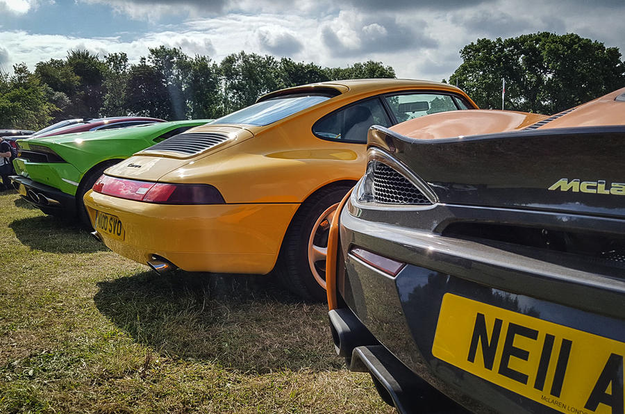 COMPARE AND CONTRAST: A rare opportunity to compare supercar styling