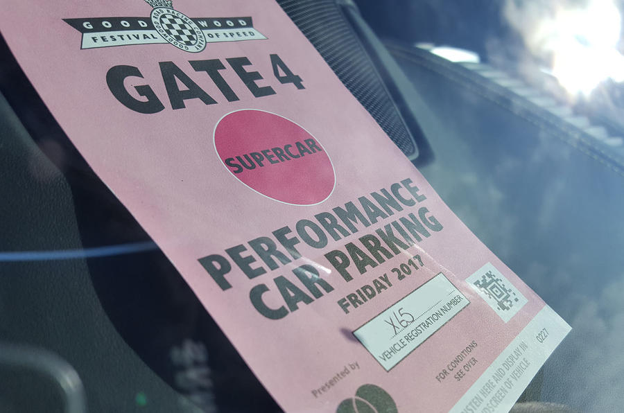SPECIAL PASS: Some cars are more equal than others when it comes to Goodwood parking