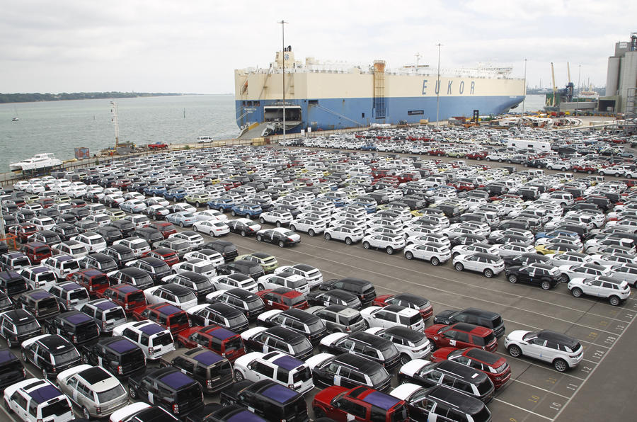 Cars at port