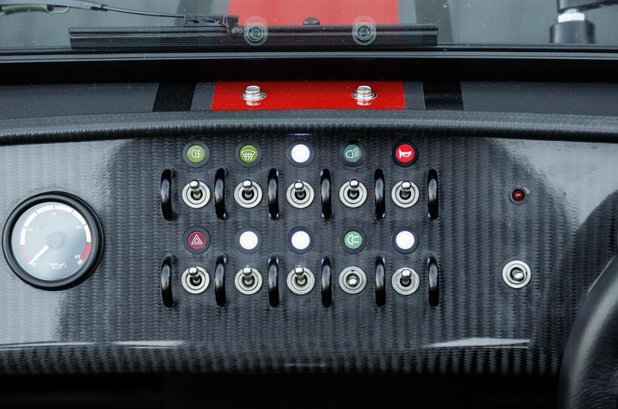 Caterham Seven 620S switchgear