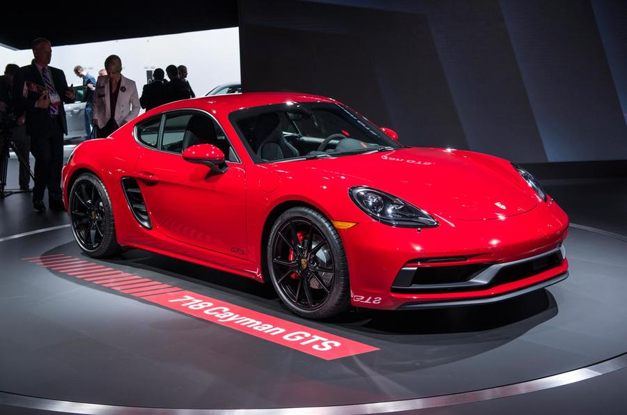 porsche 718 cayman gts and boxster gts: 361bhp models land in la