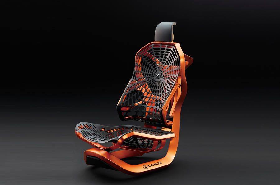 Lexus reveals spider-influenced Kinetic Seat Concept