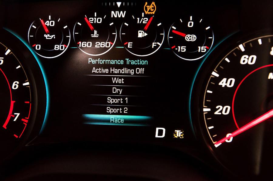 Chevrolet Camaro ZL1 instrument cluster