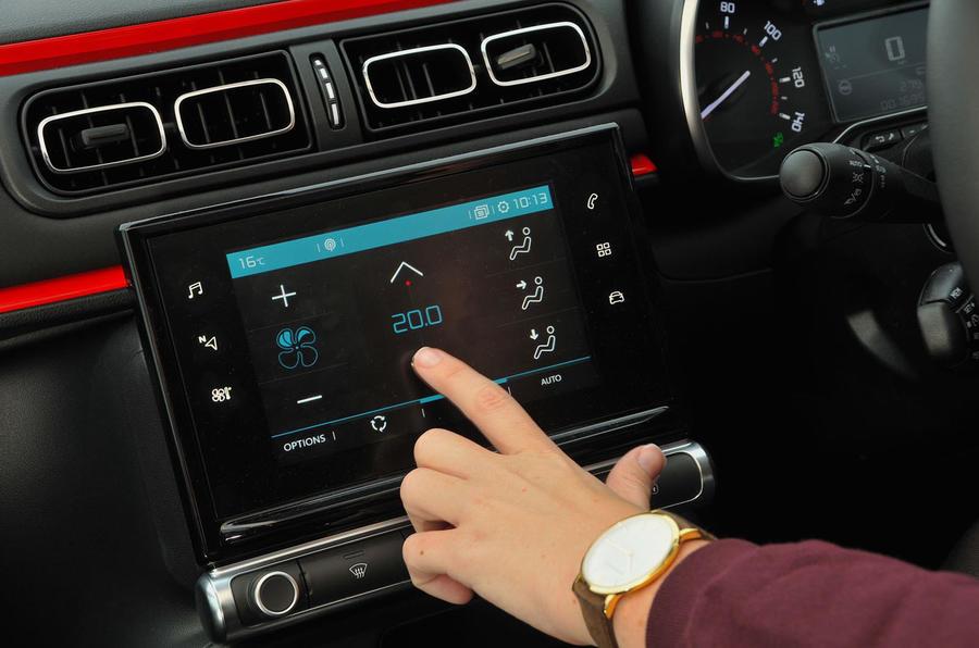 Citroën C3 climate controls