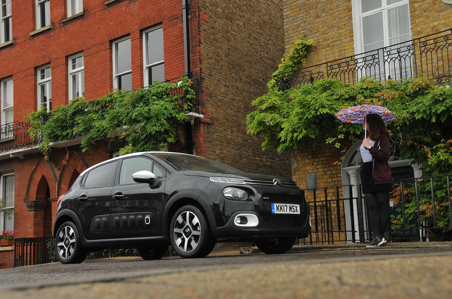 Rachel Burgess looking on at the Citroën C3