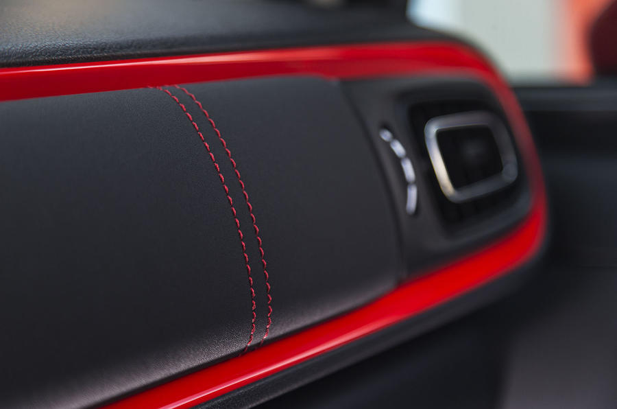 Citroen C3 red dashboard trim