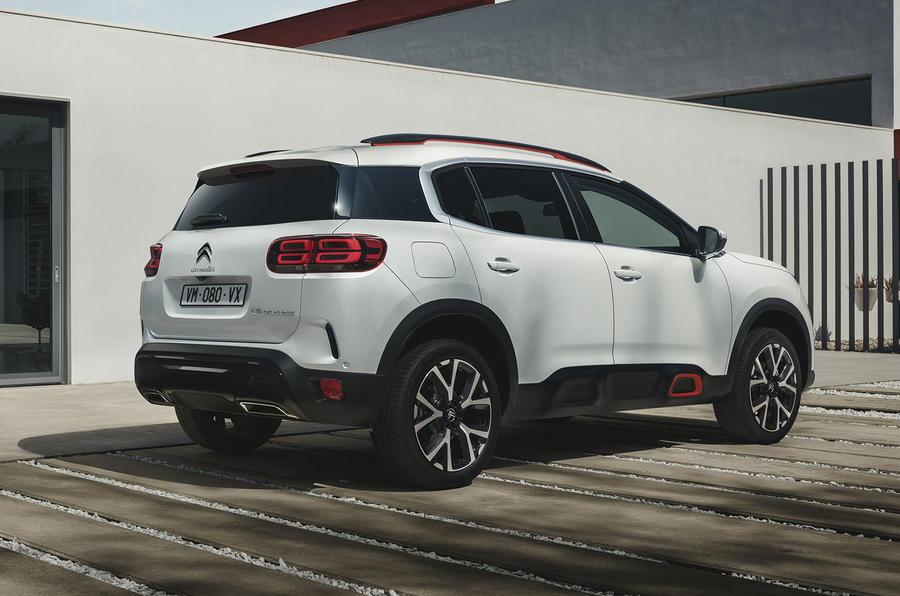 Citroen C5 Aircross 2018 European launch static rear right