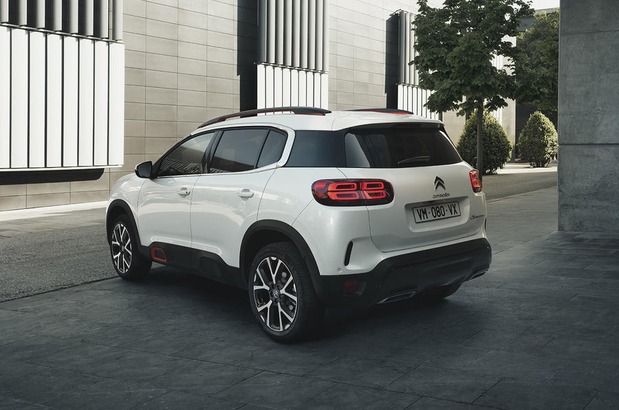 Citroen C5 Aircross 2018 European launch static rear left