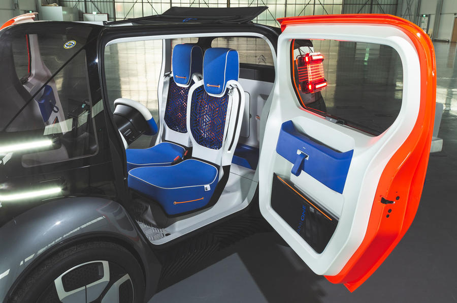 Citroen Ami One concept driven - seats