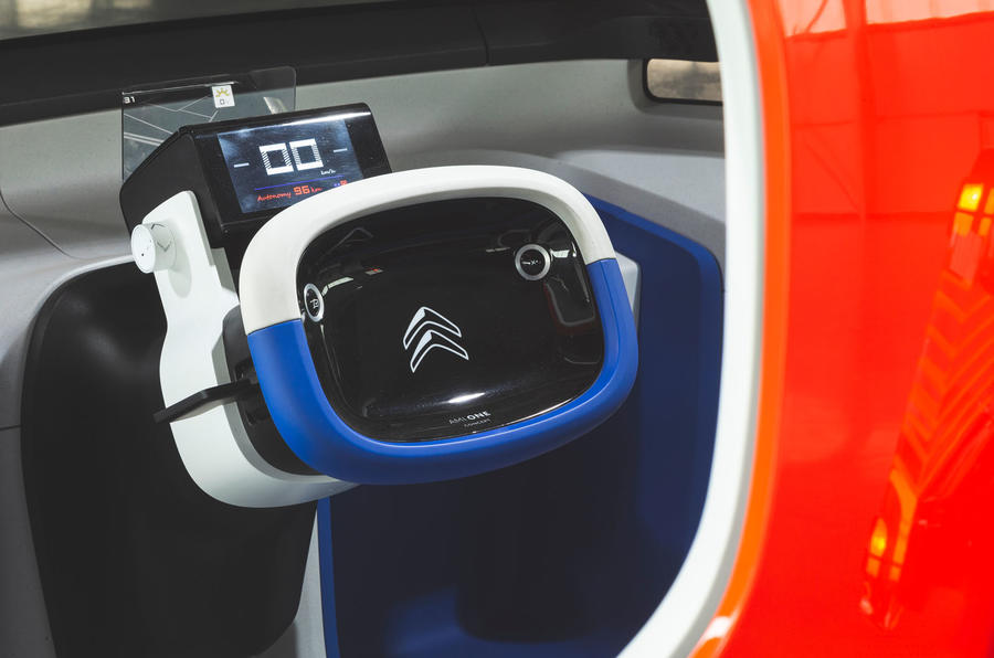 Citroen Ami One concept driven - steering wheel