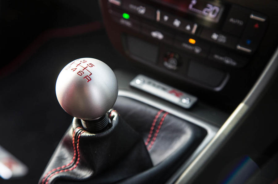 Honda Civic Type R gear shift