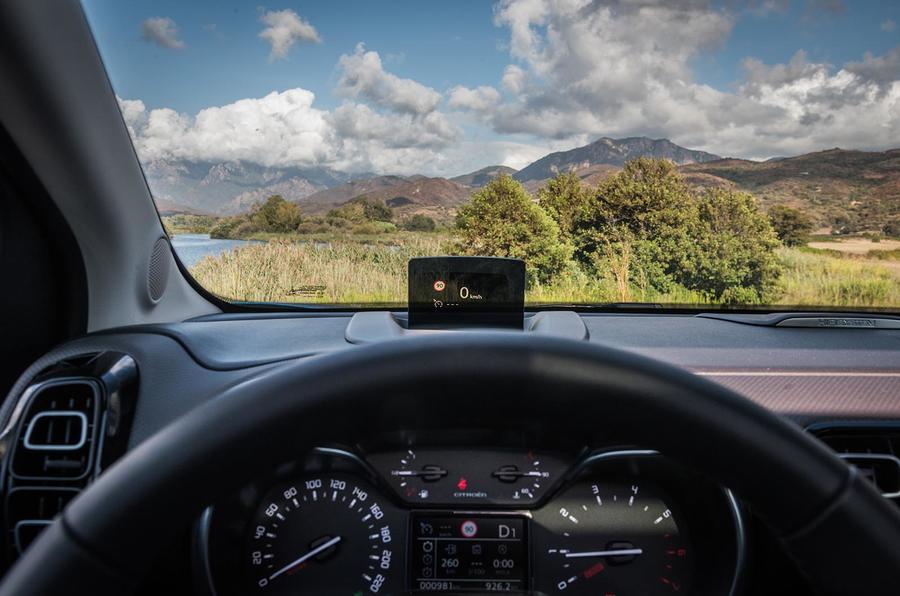 Citroën C3 Aircross head-up display
