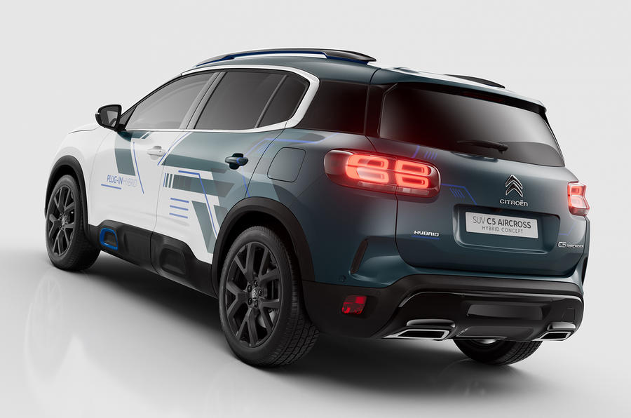 citroen c5 aircross hybrid concept makes paris debut autocar. Black Bedroom Furniture Sets. Home Design Ideas