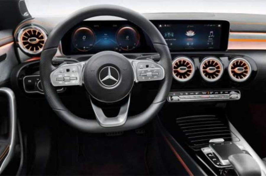 Mercedes CLA leaked image by Redline interior