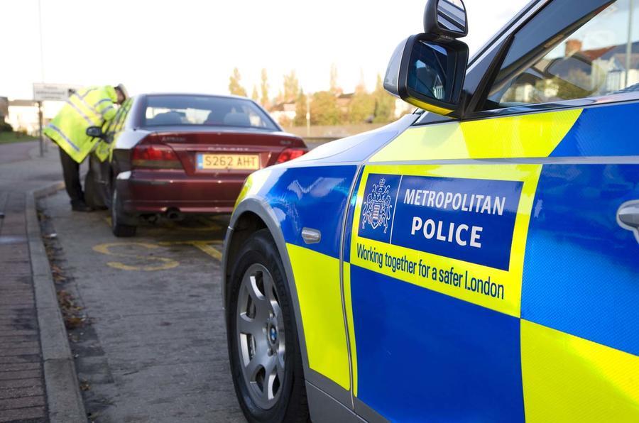 Metropolitan Police stop a Mitsubishi Galant