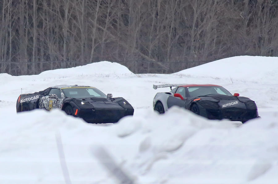 Mid-engined Chevrolet Corvette C8 spotted testing