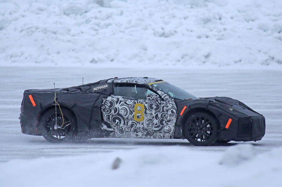 2019 chevrolet corvette c8  new pictures of 700bhp mid