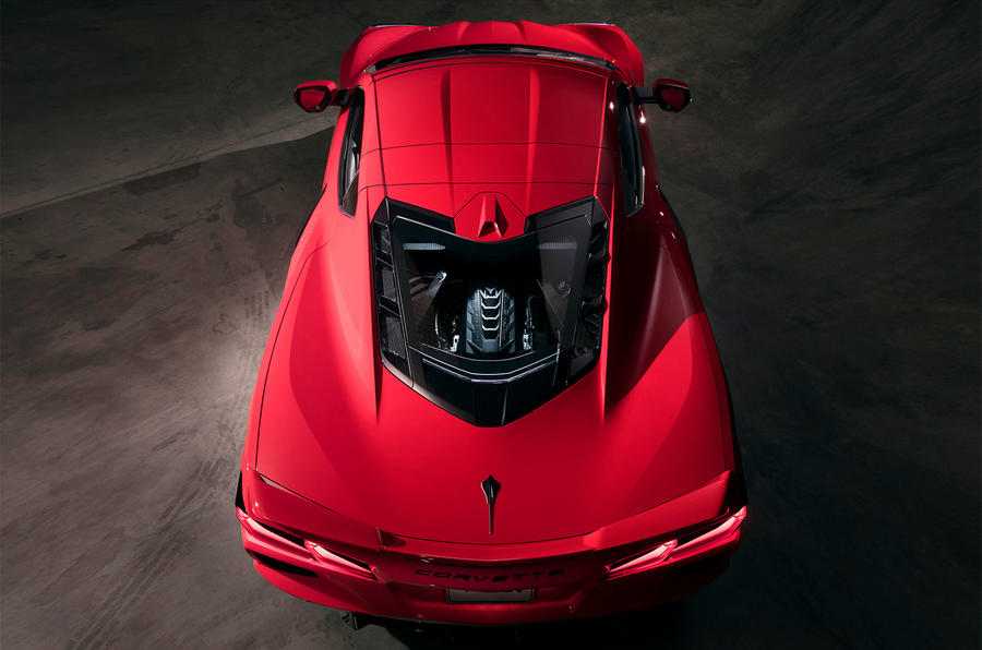 Corvette Stingray C8 official reveal - aerial view