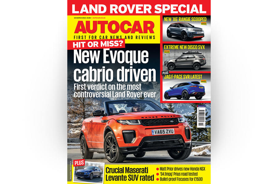 Autocar cover 16 March