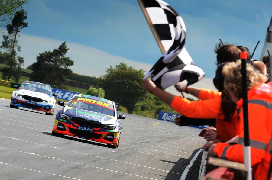BMWs at finish line
