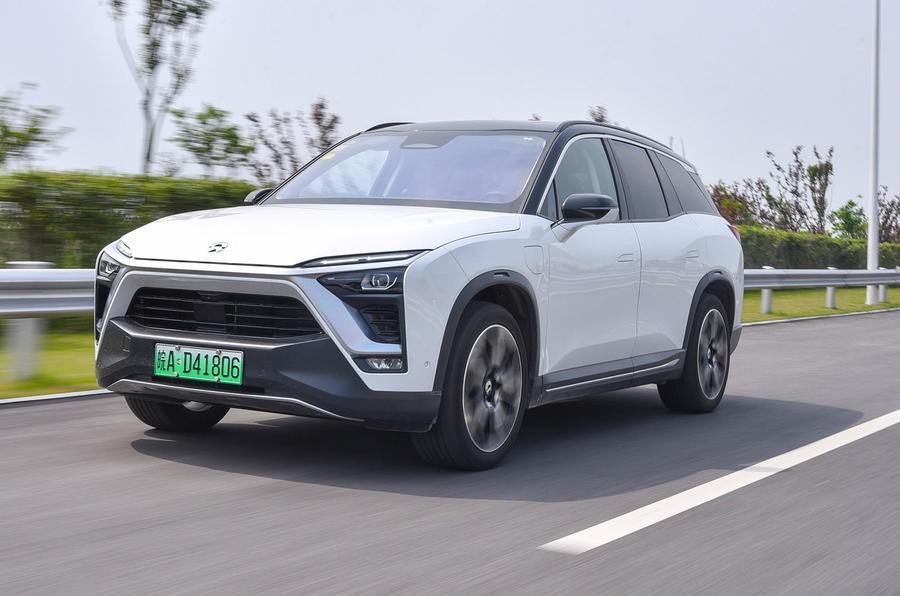 Nio EV on green Chinese numberplate