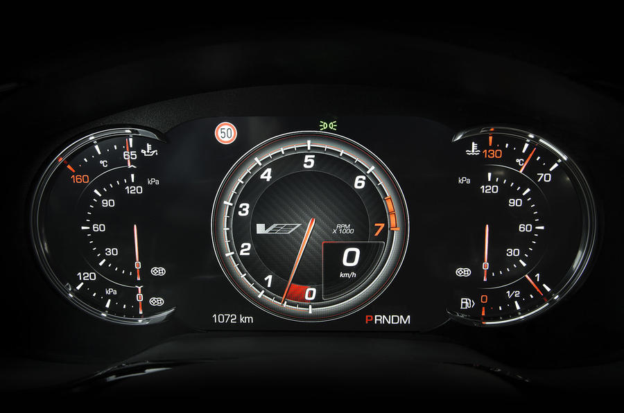 Cadillac CTS-V instrument cluster