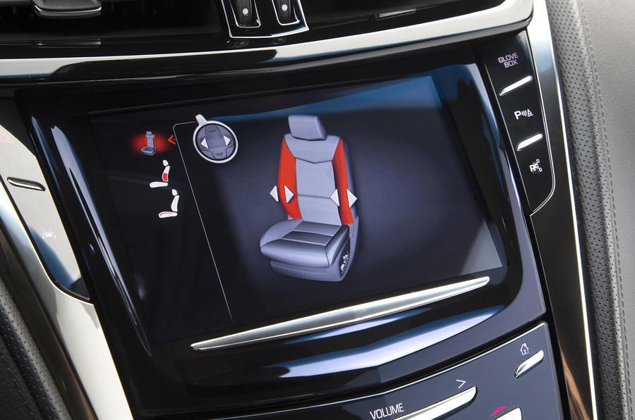 Cadillac CTS-V seat adjustment screen