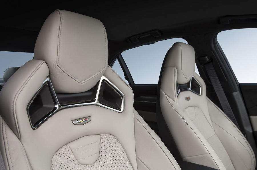 Cadillac CTS-V sport front seats