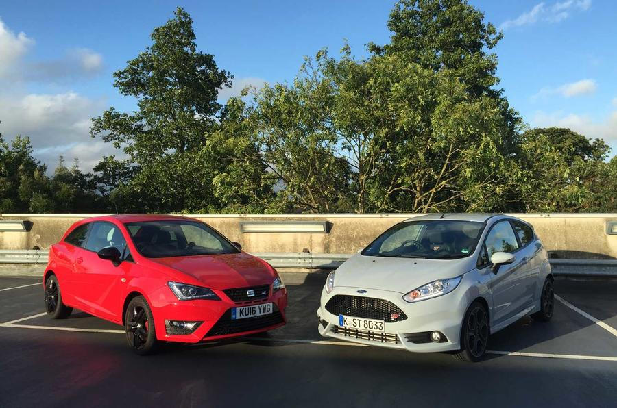 Seat Ibiza Cupra and Ford Fiesta ST200