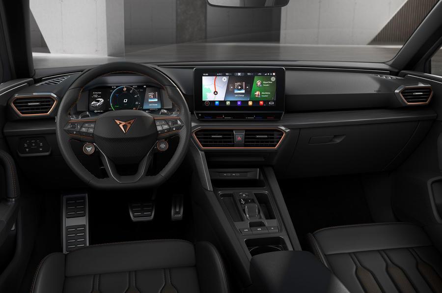 Cupra Leon eHybrid hatch official press images - dashboard