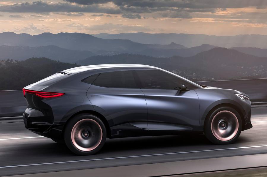 2019 Cupra Tavascan concept - hero on the road