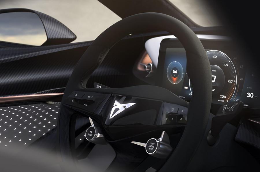 Cupra previews interior of all-electric concept car