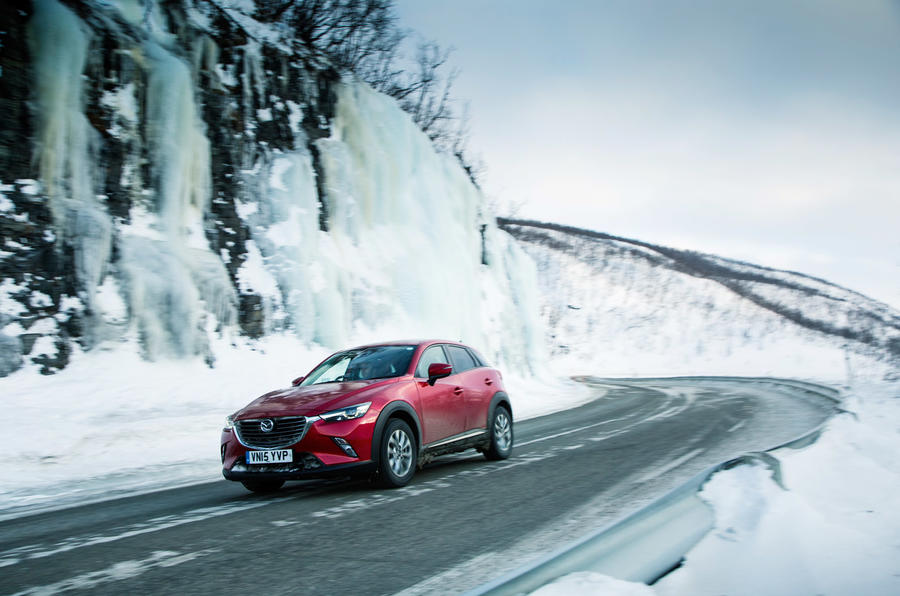 Mazda CX-3 Norway drive Autocar