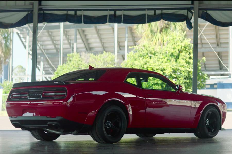 840bhp Dodge Challenger SRT Demon spotted in narrow-body