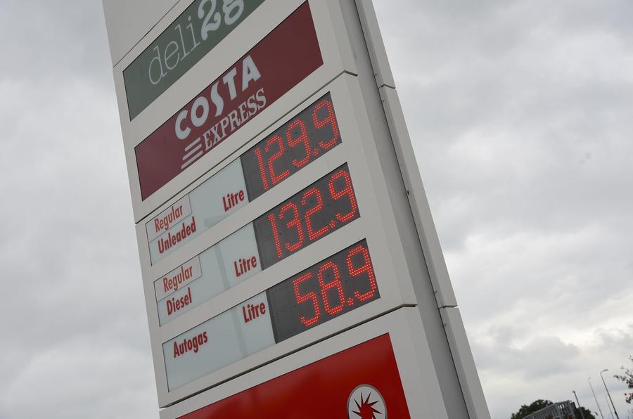 Dacia Sandero Stepway LPG fuel board